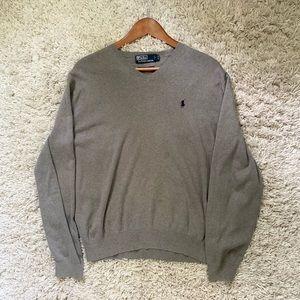 Mens Polo Ralph Lauren V-Neck Sweater Olive M